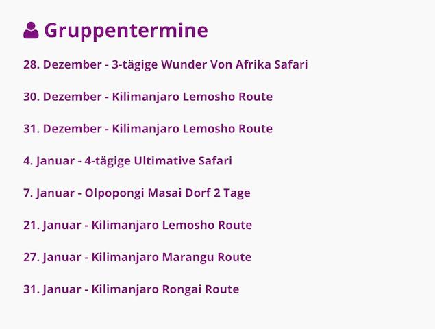 Tansania Zubucher-Reisen